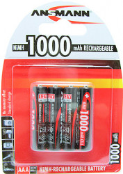 Ansmann 1000mAh re-chargeable AAA Batteries