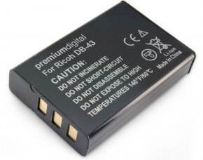 Ricoh DB-43 Replacement Camera Battery