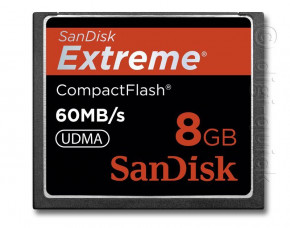 8GB SanDisk Extreme Compact Flash Card (60MB/s 400x)