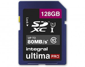 128GB Integral UltimaPro SDXC Memory Card (Class 10)