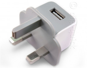 Mini Cube Single USB Travel Charger (UK Plug)