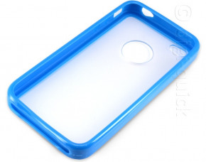 PC + TPU Case for iPhone 4 (Blue)