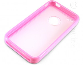 PC + TPU Case for iPhone 4 (Pink)