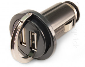 Aries Dual USB Interfaced Mini In-car Charger