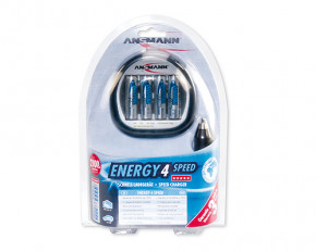 Ansmann Energy 4 Speed Charger (inc 2700mAh re-chargeable batteries)